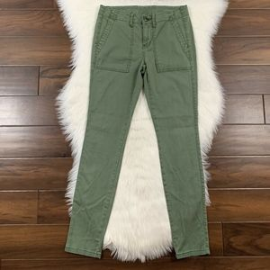 CAbi Green The Quest Corduroy Skinny Pants